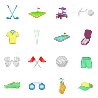 Set di icone di golf