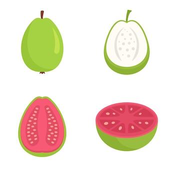 Set di icone di guava