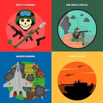 Set di icone di guerra