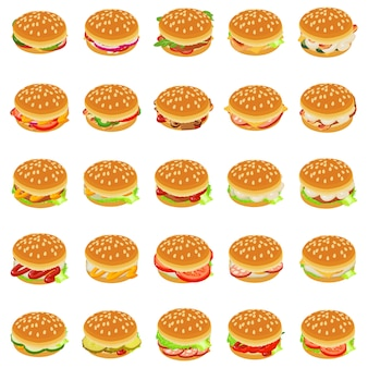 Set di icone di hamburger