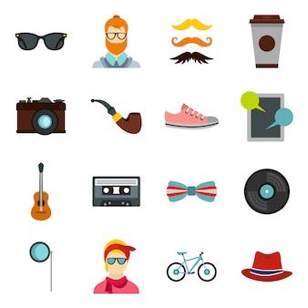 Set di icone di hipster
