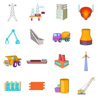 Set di icone di industria