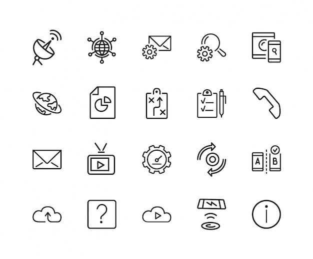 Set di icone di informazioni