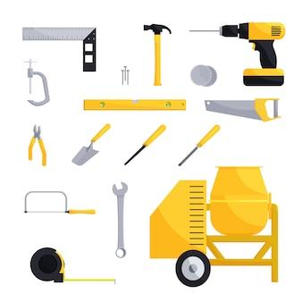 Set di icone di ingegneria e costruzione