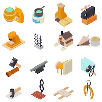 Set di icone di lavoro manuale