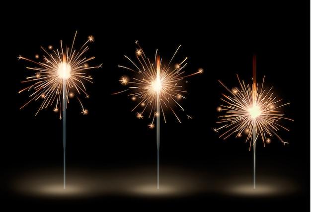 Set di icone di luci del bengala