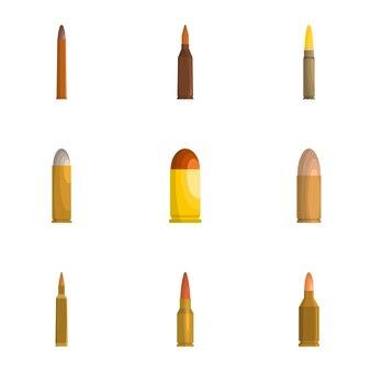 Set di icone di manica, stile cartoon