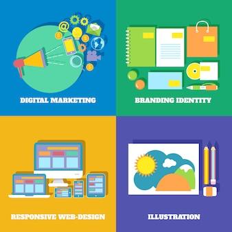 Set di icone di marketing
