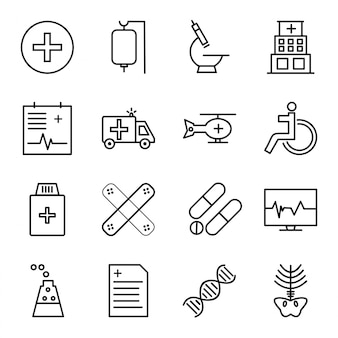 Set di icone di medici