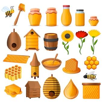 Set di icone di miele