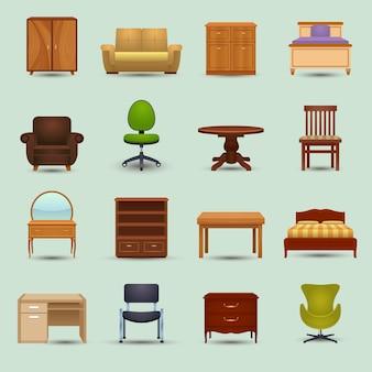 Set di icone di mobili