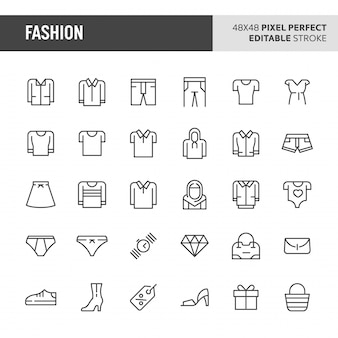 Set di icone di moda
