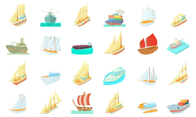 Set di icone di nave