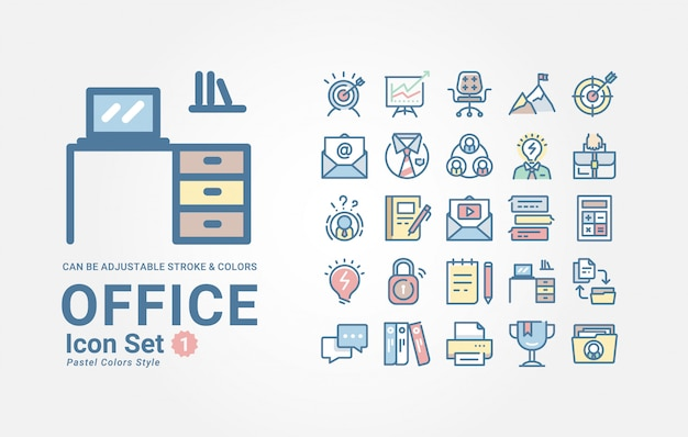 Set di icone di office