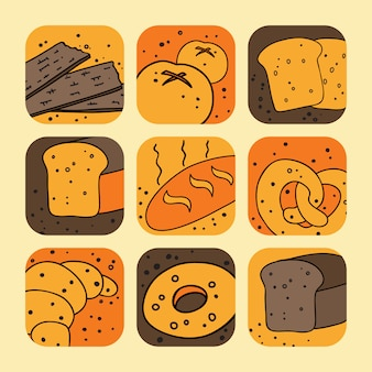 Set di icone di pane