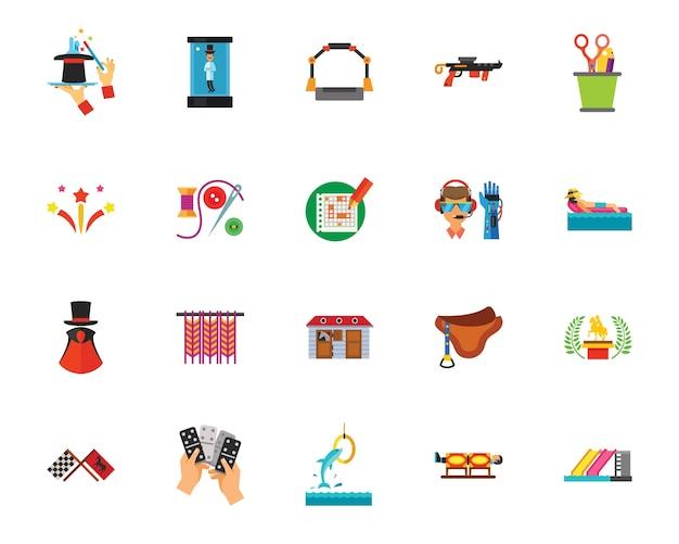 Set di icone di passatempo