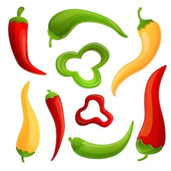 Set di icone di peperoncino