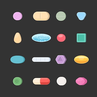 Set di icone di pillole