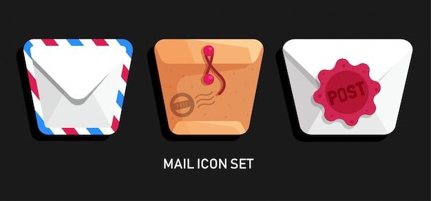 Set di icone di posta