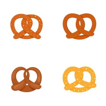 Set di icone di pret pretzel oktober