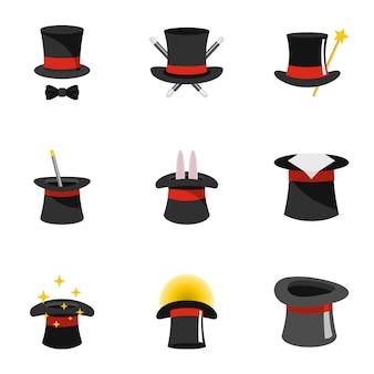 Set di icone di procedura guidata, stile piano