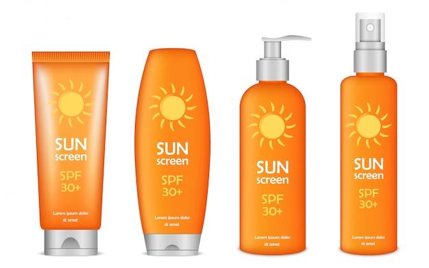 Set di icone di protezione solare