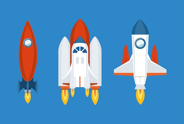 Set di icone di razzo