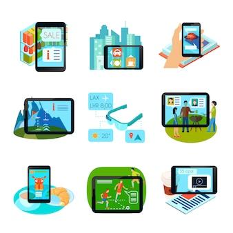 Set di icone di realtà aumentata