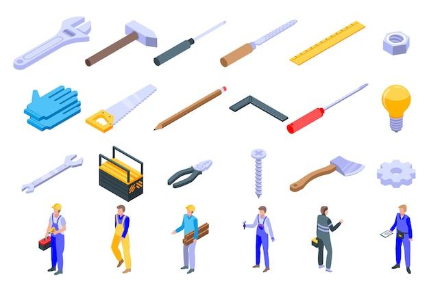 Set di icone di riparatore