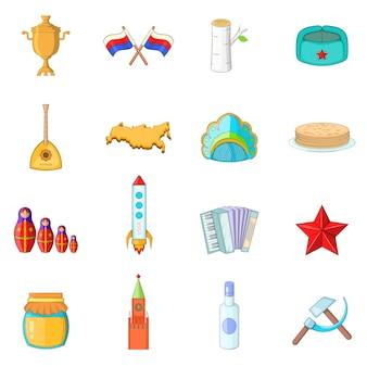 Set di icone di russia