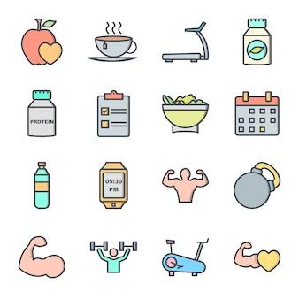 Set di icone di salute