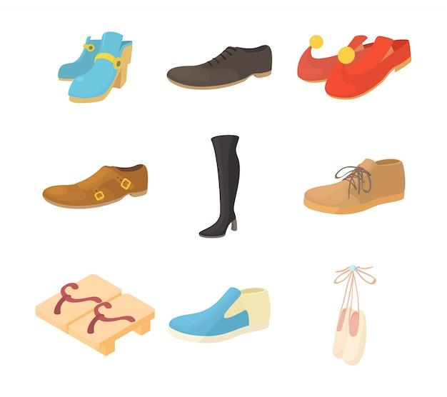 Set di icone di scarpe