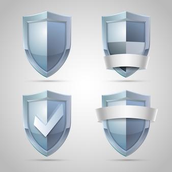 Set di icone di scudo