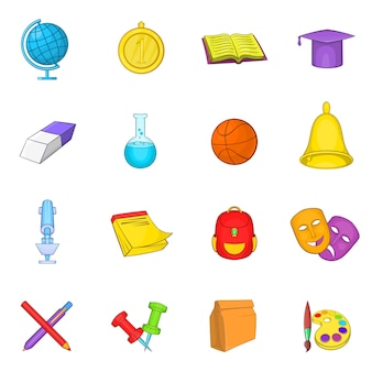 Set di icone di scuola