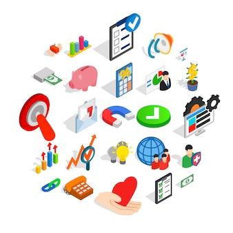 Set di icone di servizi bancari online, stile semplice