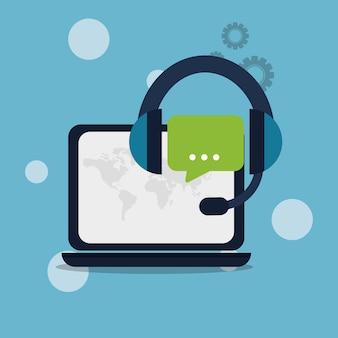 Set di icone di servizio tecnico del servizio clienti.