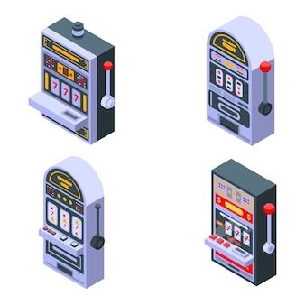 Set di icone di slot machine