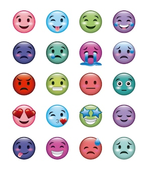 Set di icone di smiley