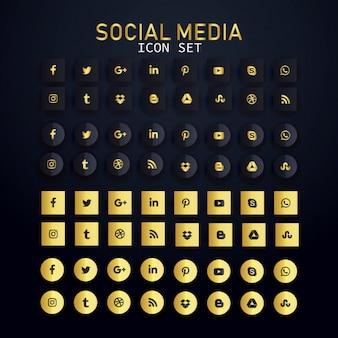 Set di icone di social media icon