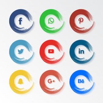 Set di icone di social media popolari