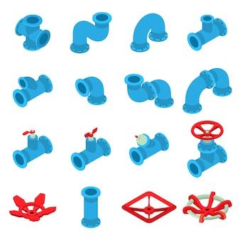 Set di icone di stampa 3d. un'illustrazione isometrica di 16 icone di stampa 3d ha messo le icone di vettore per il web