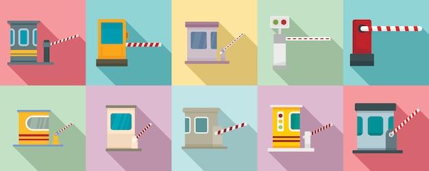 Set di icone di strada a pedaggio