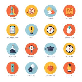 Set di icone di strategia