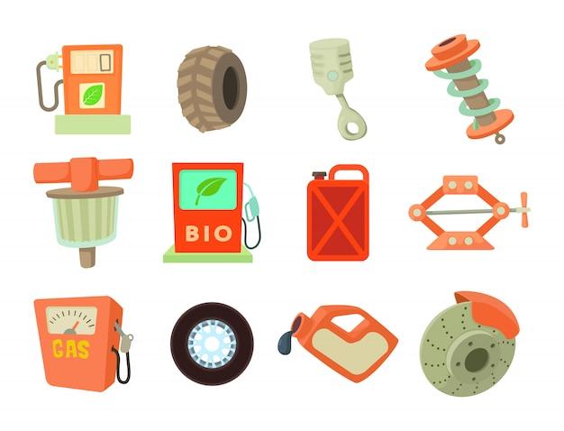 Set di icone di strumenti di auto