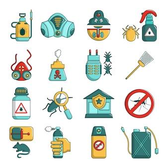 Set di icone di strumenti di controllo dei parassiti