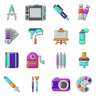 Set di icone di strumenti di design e disegno