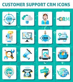 Set di icone di supporto clienti