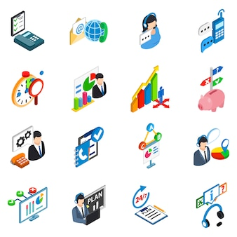 Set di icone di supporto di servizio