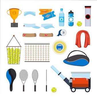 Set di icone di tennis