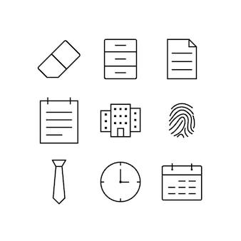 Set di icone di ufficio